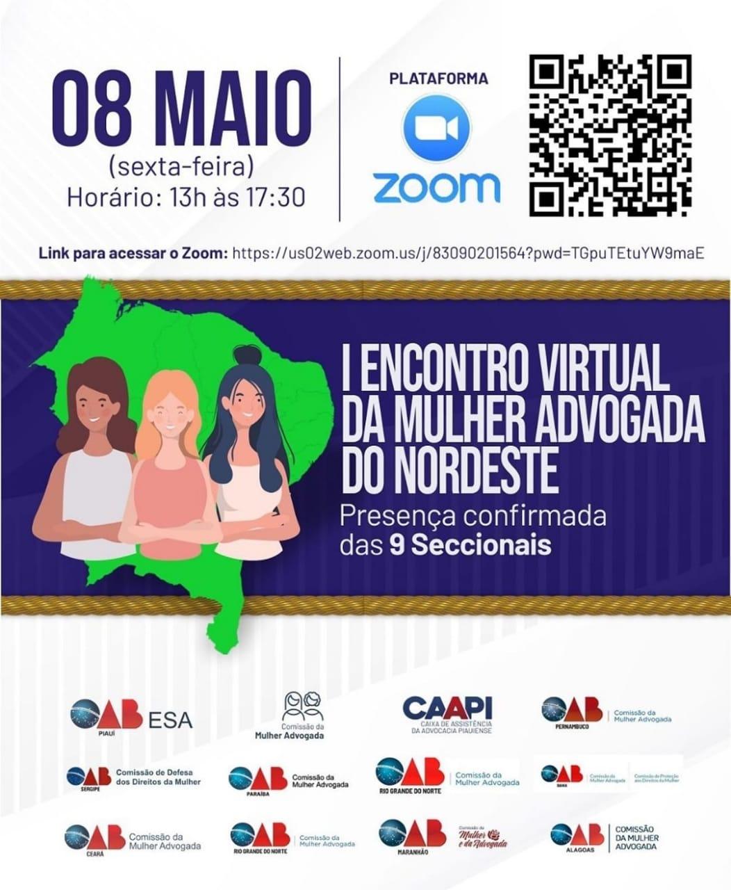 OAB-PB participará do I Encontro Virtual da Mulher Advogada do Nordeste nesta sexta