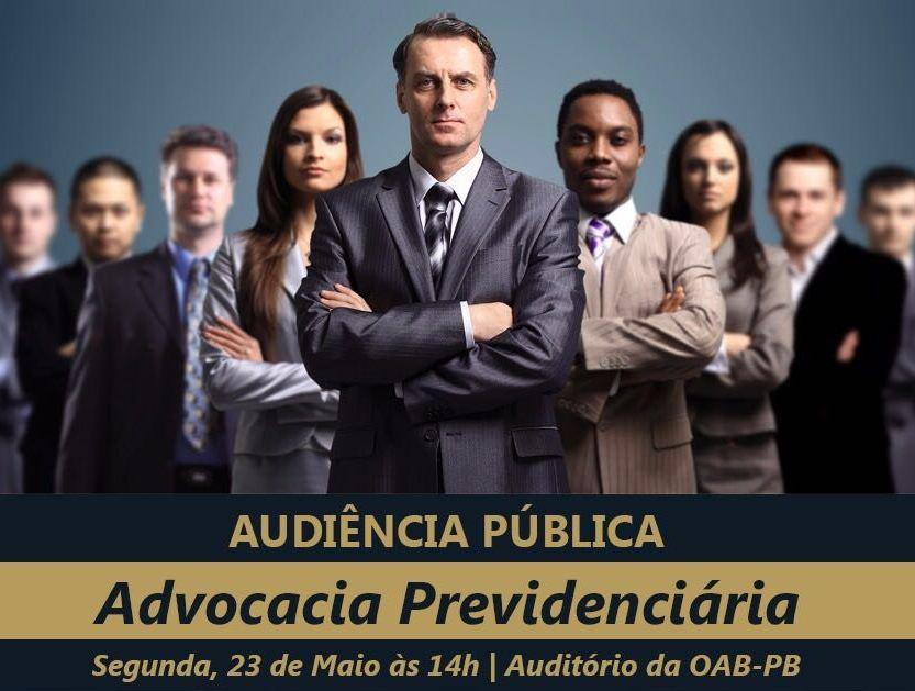 OAB-PB realiza audiência pública para discutir a Advocacia Previdenciária no Estado