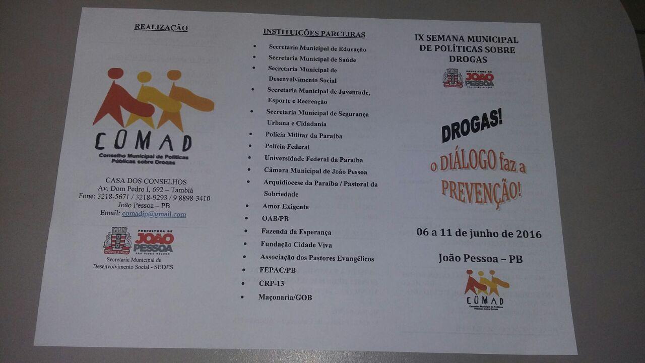 OAB-PB realiza IX semana municipal de combate às drogas