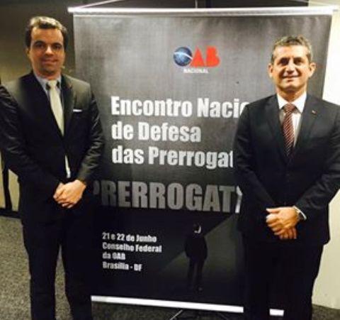 Paulo Maia e Allyson Fortuna participam do Encontro Nacional de Defesa das Prerrogativas em Brasília