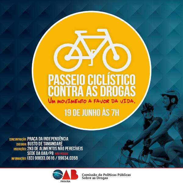 OAB-PB realiza passeio ciclístico em ato de conscientização e combate às drogas
