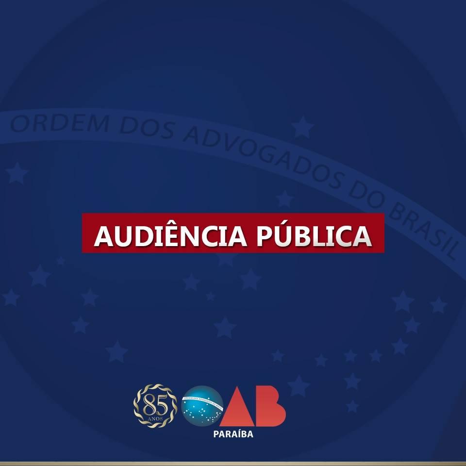 OAB-PB realizará audiência pública sobre a instalação dos cartórios unificados  em JP e CG