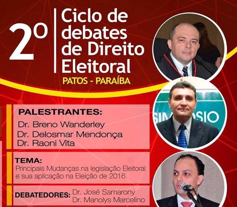 OAB-PB realizará ciclo de debates de Direito Eleitoral nas Subseções de Patos e Cajazeiras