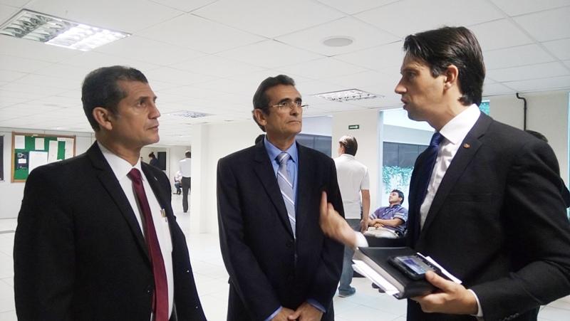 Comitiva da OAB-PB visita as futuras instalações da nova sala do advogado no Fórum Trabalhista