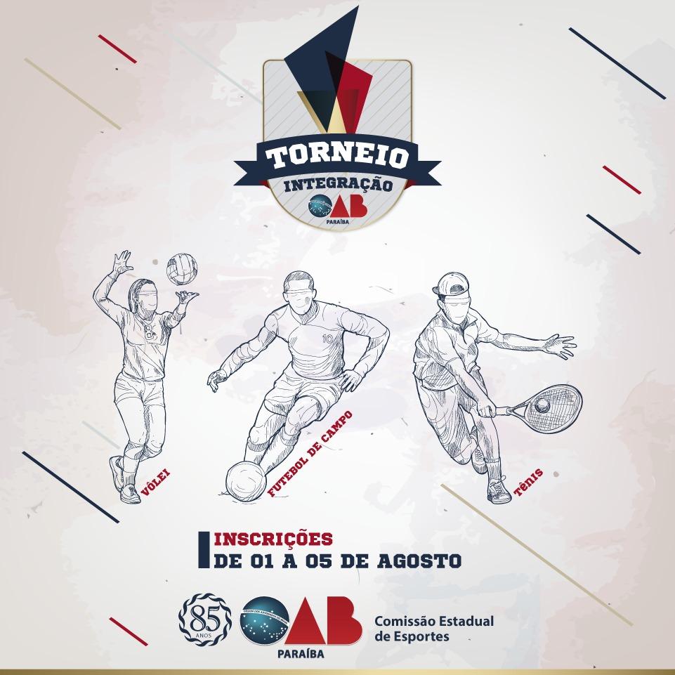 Inscrições abertas para o 1º Torneio integração OAB-PB; participe