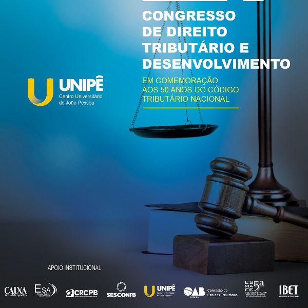 OAB-PB apoia congresso do Unipê em alusão aos 50 anos do Código Tributário Nacional