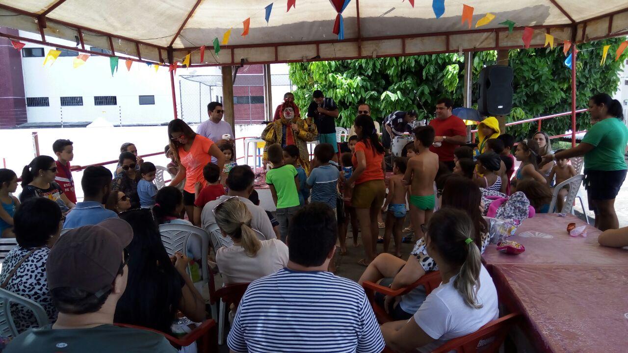 Programação especial do Esporte Clube Cabo Branco e OAB-PB para dia das crianças tem grande movimentação