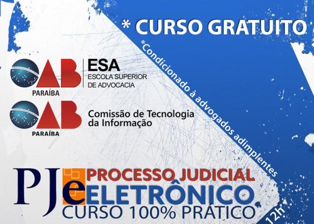 ESA e Comissão de Tecnologia da OAB-PB realizarão curso sobre PJe em Patos