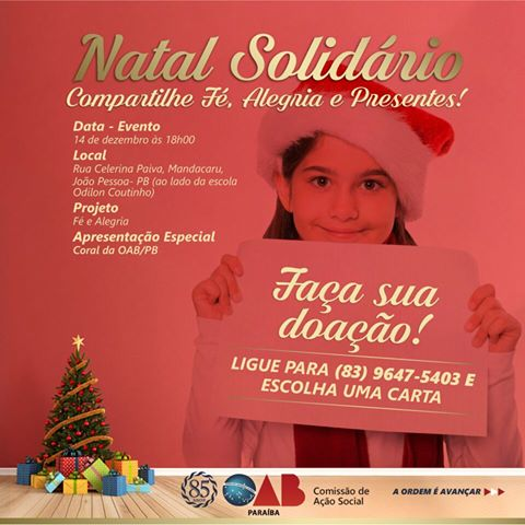 Comissão de Ação Social da OAB arrecada roupas e brinquedos para campanha Natal Mais Feliz