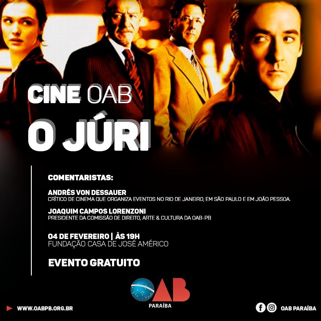 Cine OAB exibe na próxima segunda, 'O Júri'; entrada é gratuita