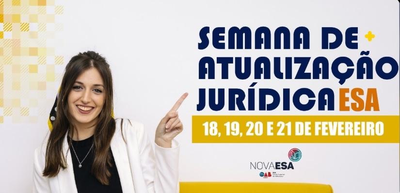 ESA-PB realizará Semana de Atualização Jurídica; participe