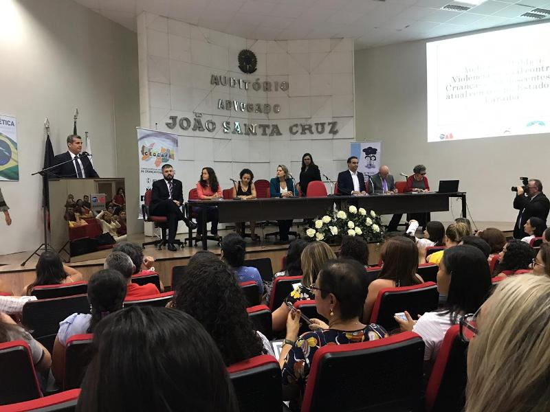 OAB-PB participa de audiência pública sobre violência sexual contra crianças e adolescentes