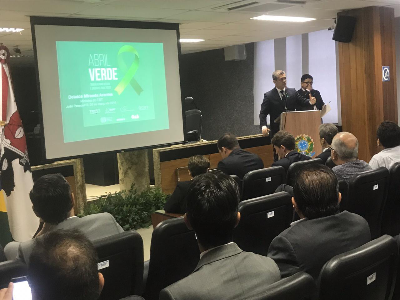 Abril Verde: OAB-PB apóia campanha de prevenção a acidentes e doenças de trabalho