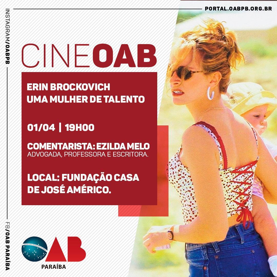 Cine OAB exibe na próxima segunda, 'Uma mulher de talento', entrada é gratuita