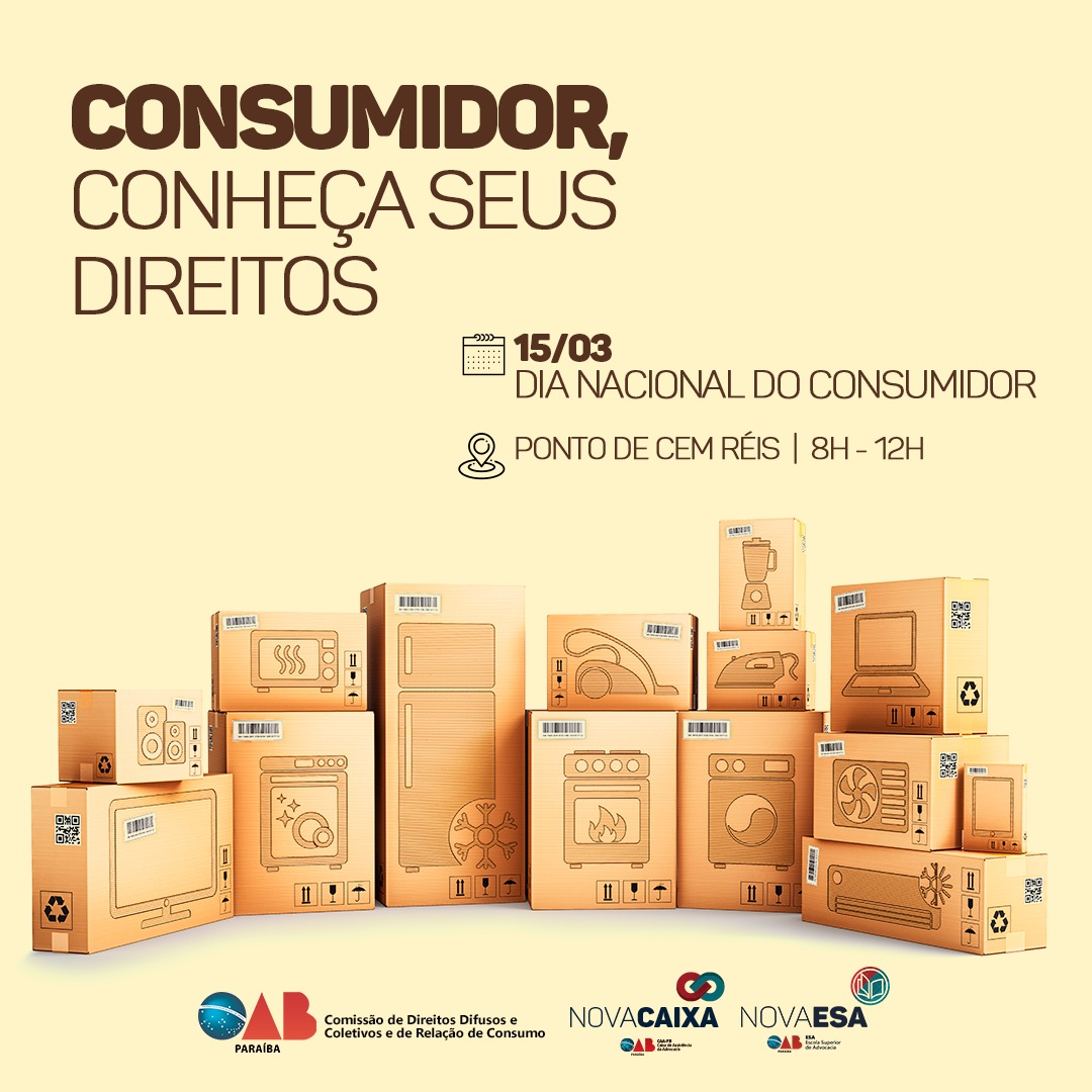 OAB-PB realizará atividades em comemoração ao Dia Internacional do Consumidor nesta sexta