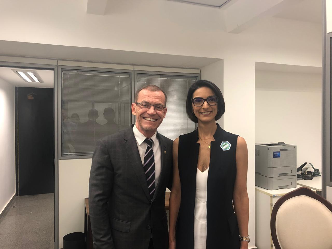 Marina Gadelha se reúne com senador Fabiano Contarato e discute projetos para o meio ambiente