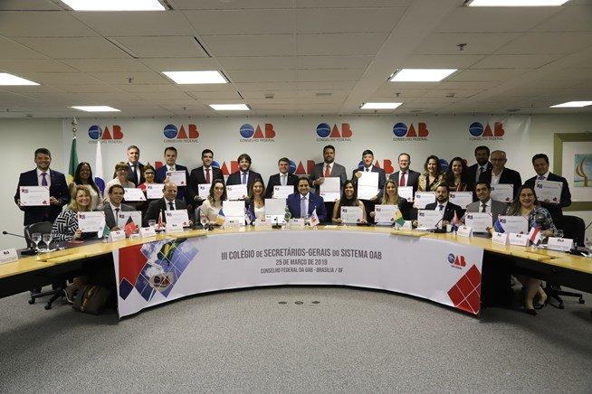 Felipe Mendonça participa do III Colégio de Secretários-Gerais do Sistema OAB