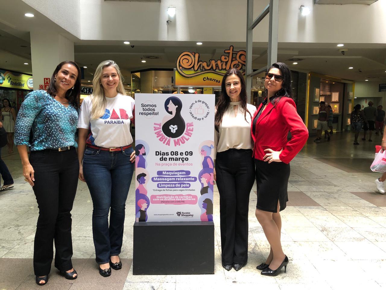 Mês da Mulher: Comissão de Ação Social realiza consultoria jurídica gratuita no Shopping Tambiá