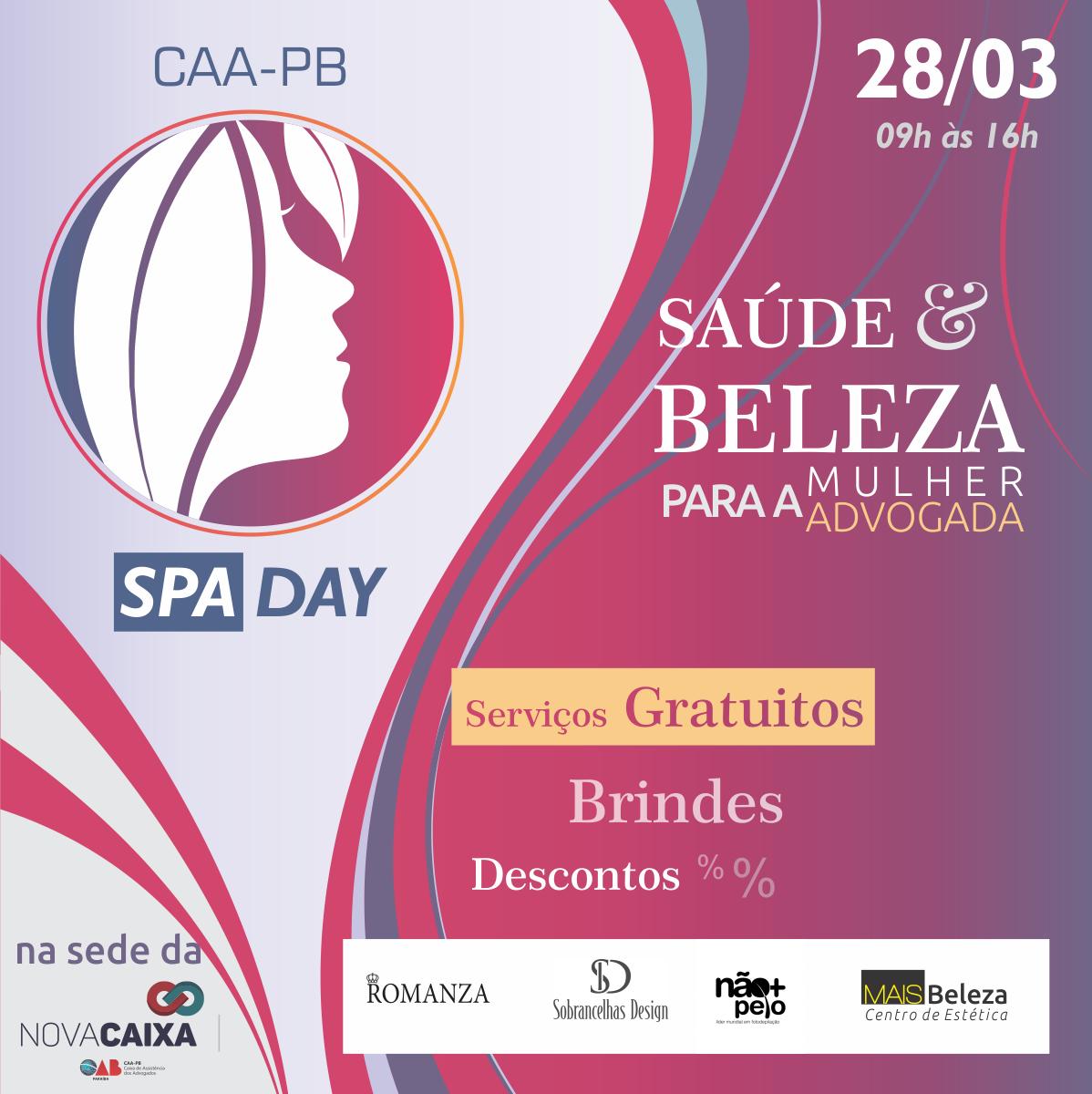 CAA-PB promove Spa Day: um dia de serviços gratuitos para beleza e saúde das mulheres advogadas