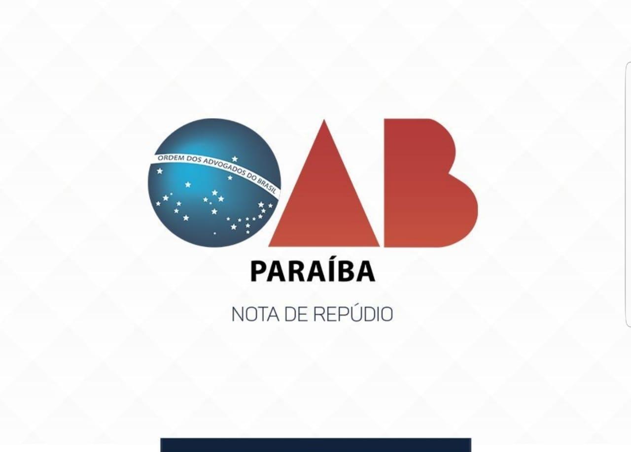 Em nota, OAB-PB repudia publicação em rede social do TJPB