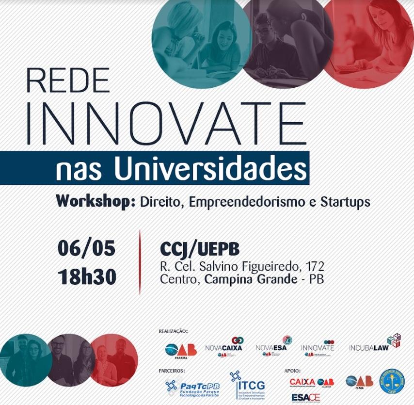 Innovate realiza Workshop sobre Direito, Empreendedorismo e Startups no CCJ da UEPB