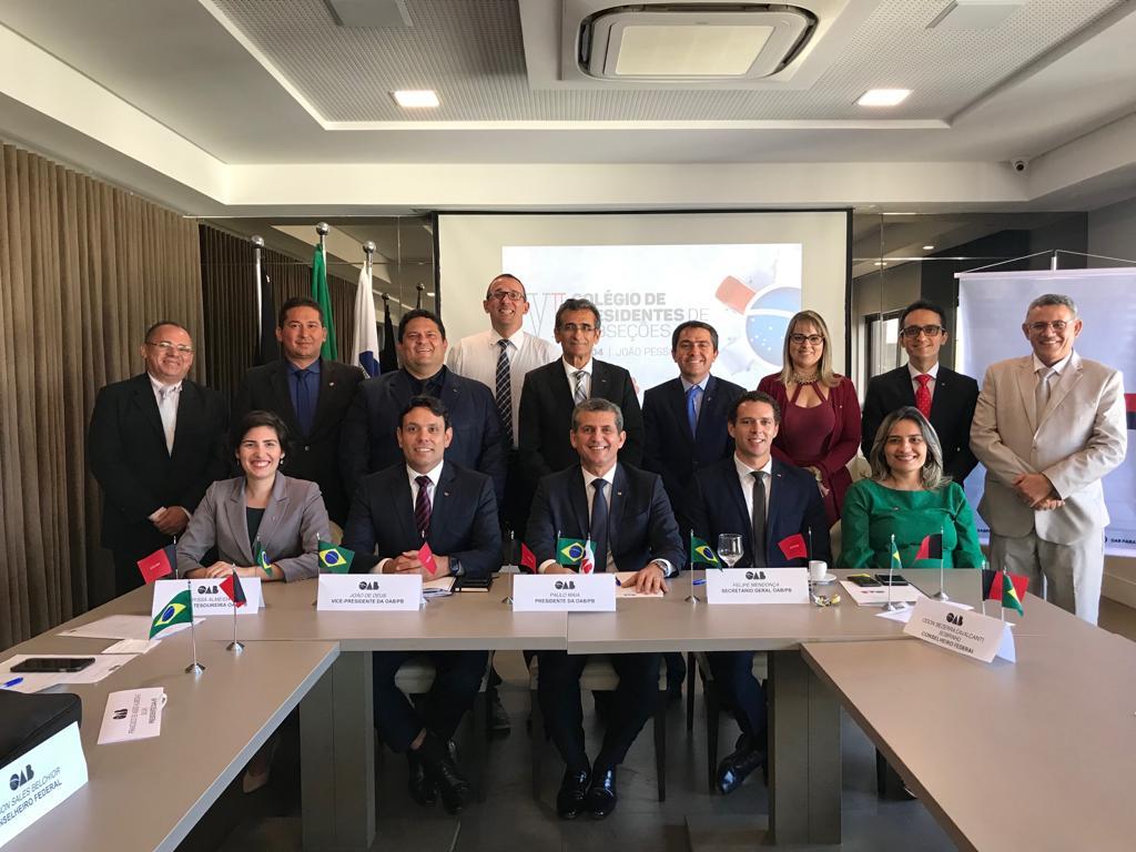 OAB-PB realiza Colégio de Presidentes de Subseções e divulga Carta de João Pessoa
