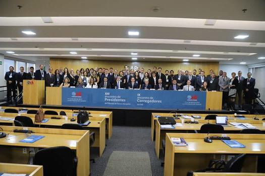 Presidente do TED e Corregedores da OAB participam de encontro no Conselho Federal
