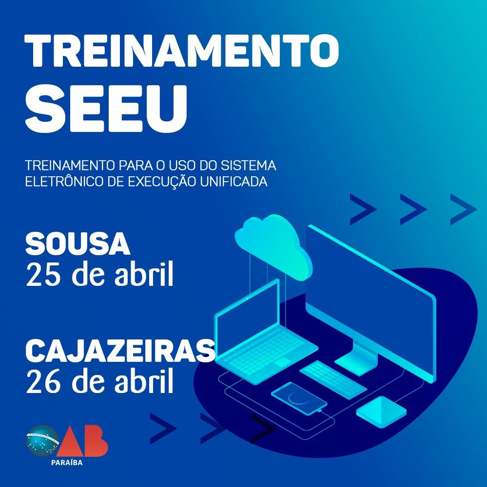 OAB-PB realizará treinamento para uso do Sistema Eletrônico de Execução Unificado em Sousa e Cajazeiras