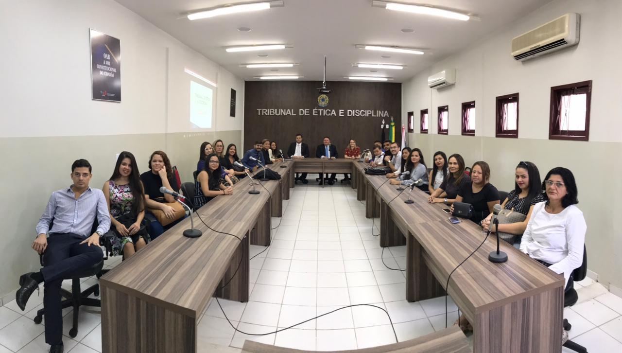 Estudantes de Direito visitam o Tribunal de Ética e Disciplina da OAB-PB