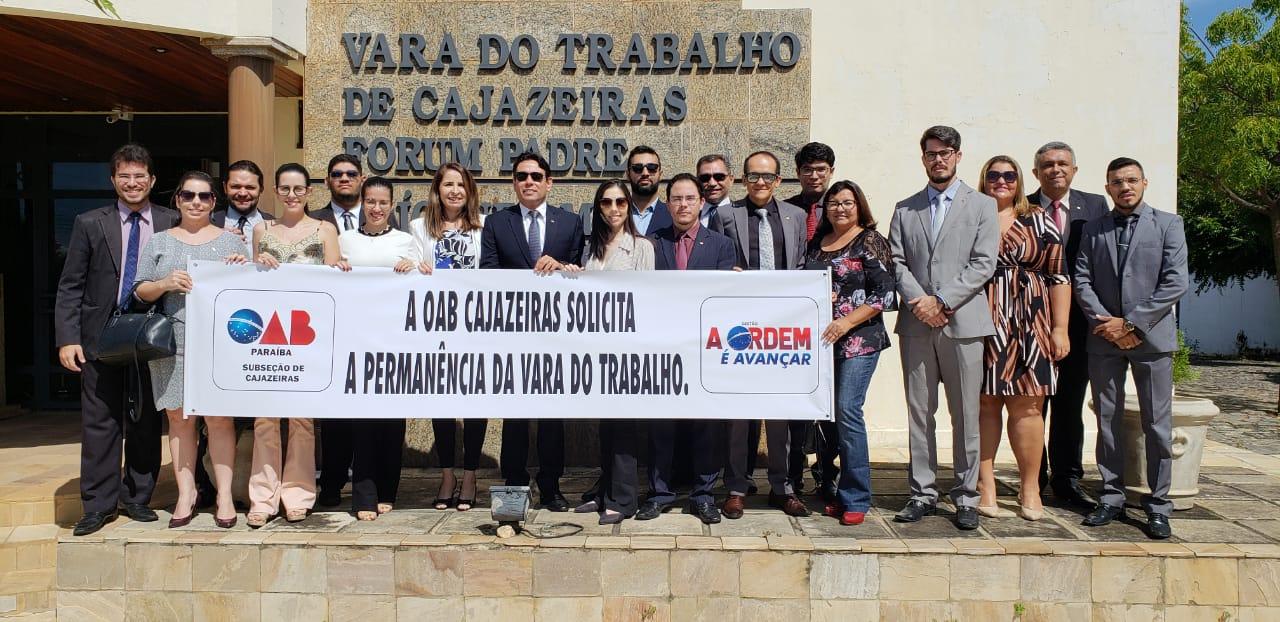 OAB protesta contra possível fechamento da Vara do Trabalho de Cajazeiras