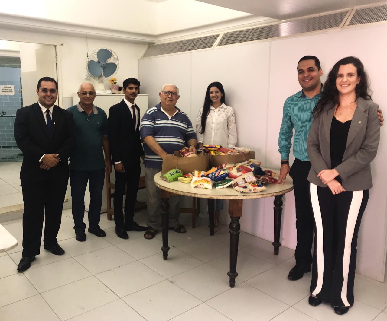 Comissão da Jovem Advocacia da OAB-PB doa alimentos para abrigo de idosos de João Pessoa