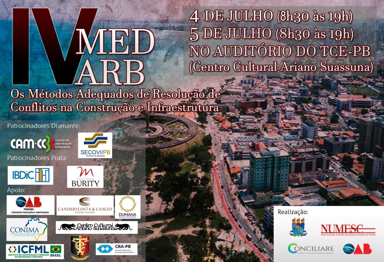 IV Seminário de Mediação e Arbitragem será realizado nos dias 4 e 5 de julho em João Pessoa; participe