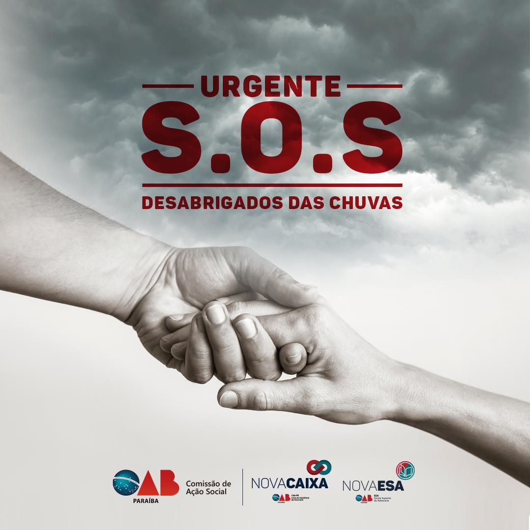 OAB-PB realiza campanha de doação para as famílias afetadas pela chuva