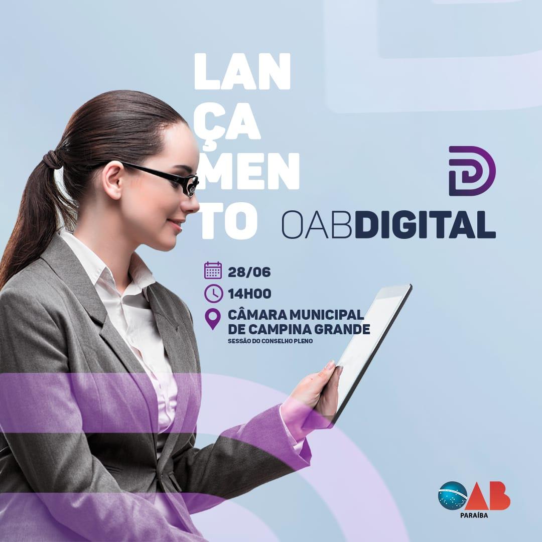 OAB-PB lança oficialmente processo de transformação digital e acabará com uso de papel