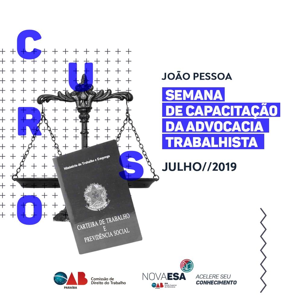 Semana de Capacitação da Advocacia Trabalhista inicia nesta segunda; participe
