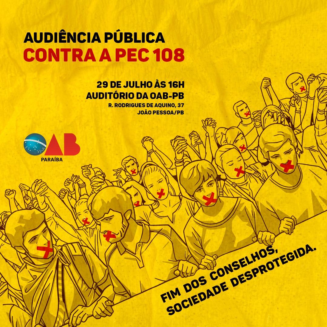 OAB-PB realizará audiência pública para debater PEC que acaba com adesão a conselhos de classe