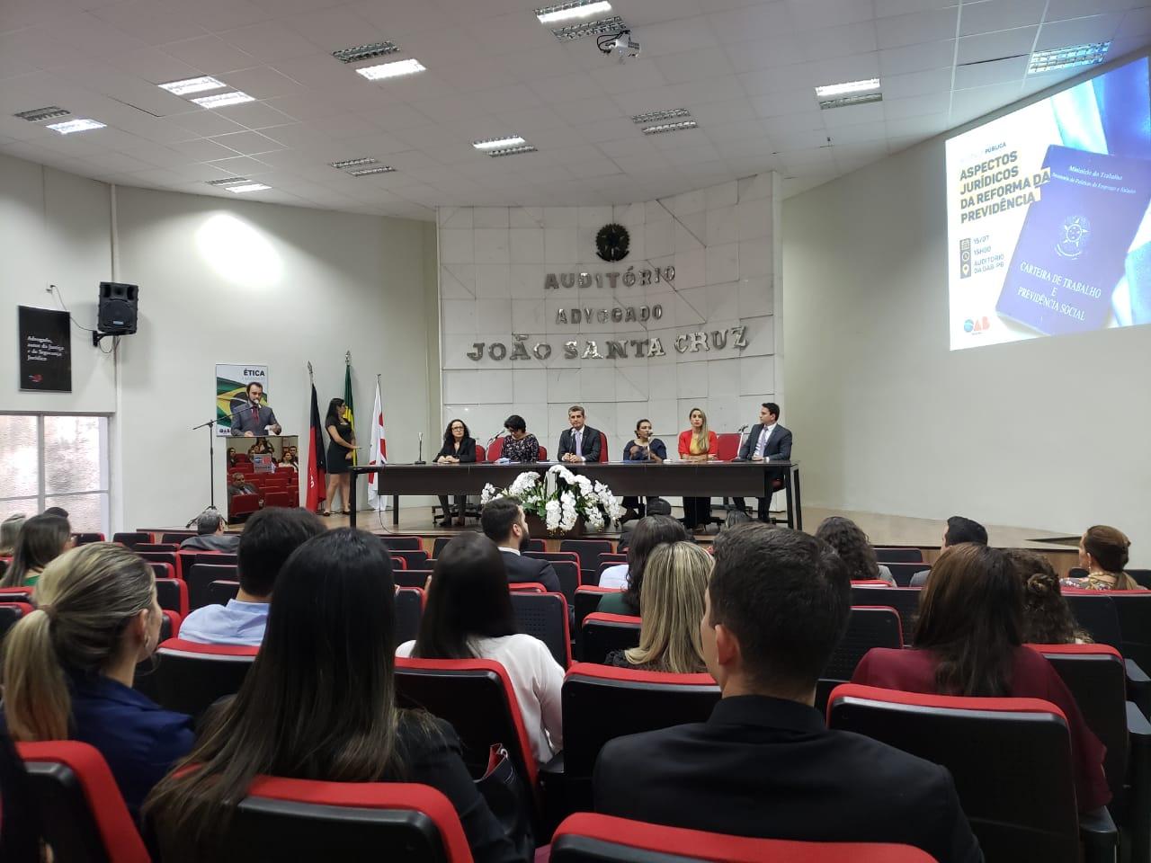 OAB-PB realiza audiência pública para debater aspectos jurídicos da Reforma da Previdência