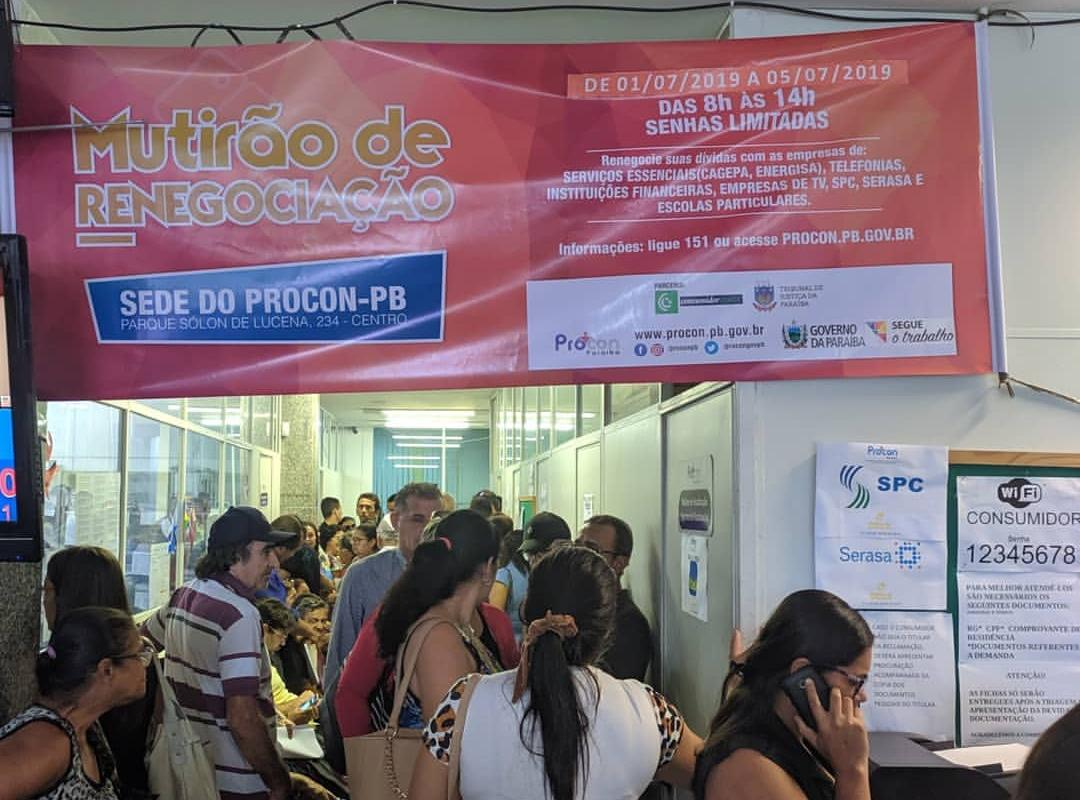 OAB-PB participa de mutirão de renegociação de dívidas do Procon estadual