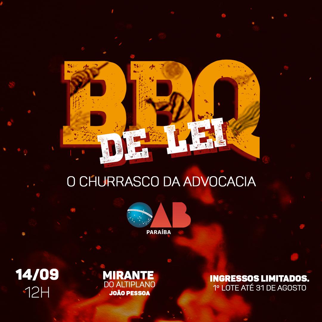 OAB-PB realiza grande churrasco em comemoração à advocacia; participe
