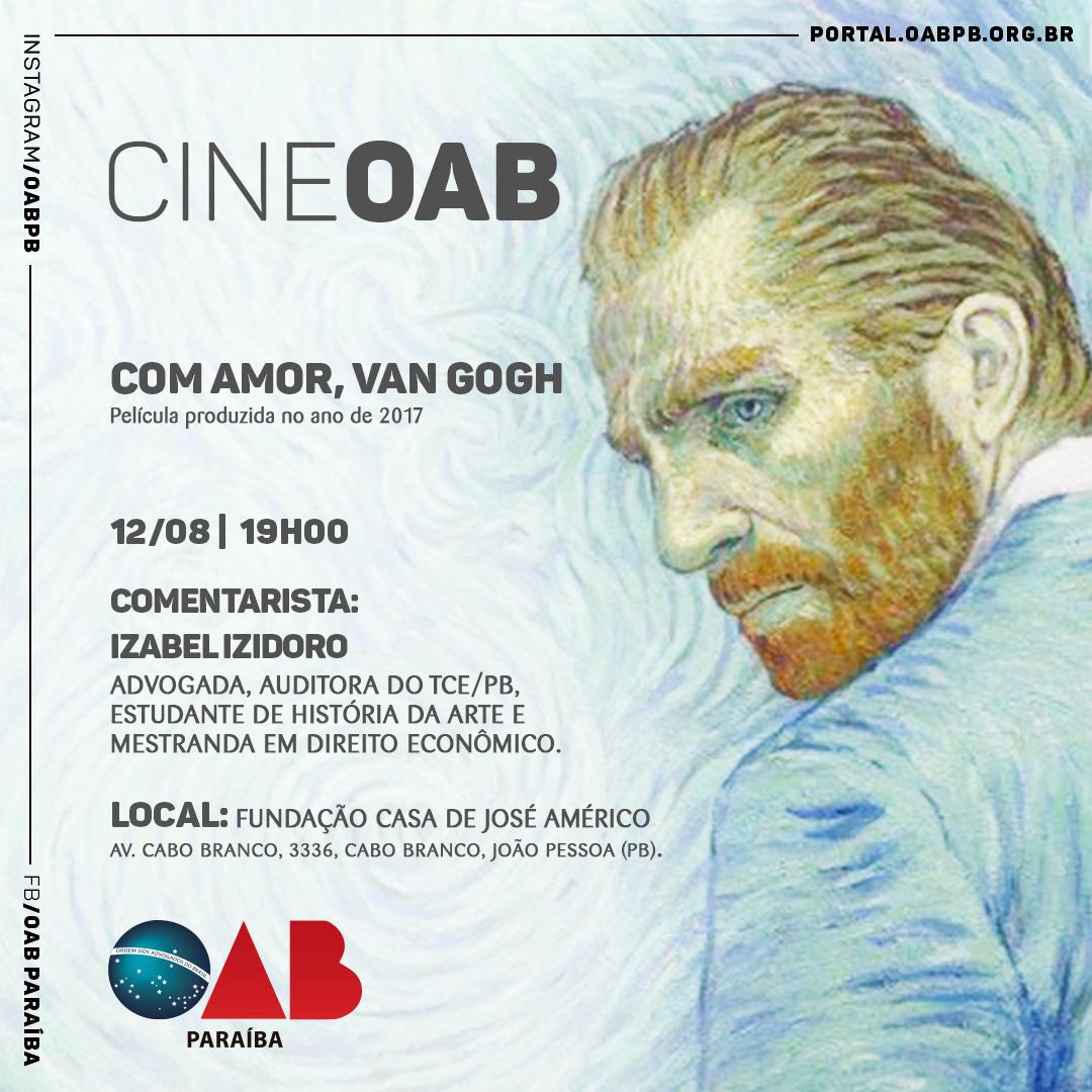 Cine OAB exibe na próxima segunda, 'Com amor, Van Gogh', entrada é gratuita