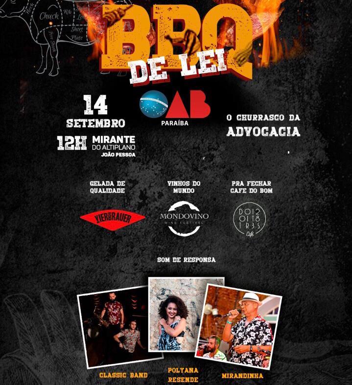 Classic Band, Polyana Resende e Mirandinha animam churrasco da advocacia neste sábado; participe
