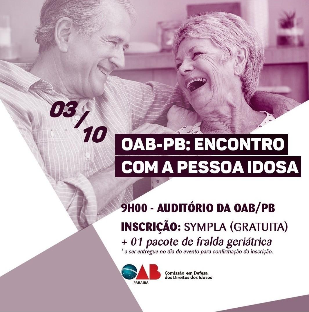 Comissão da OAB-PB realiza evento para debater situação da pessoa idosa; participe