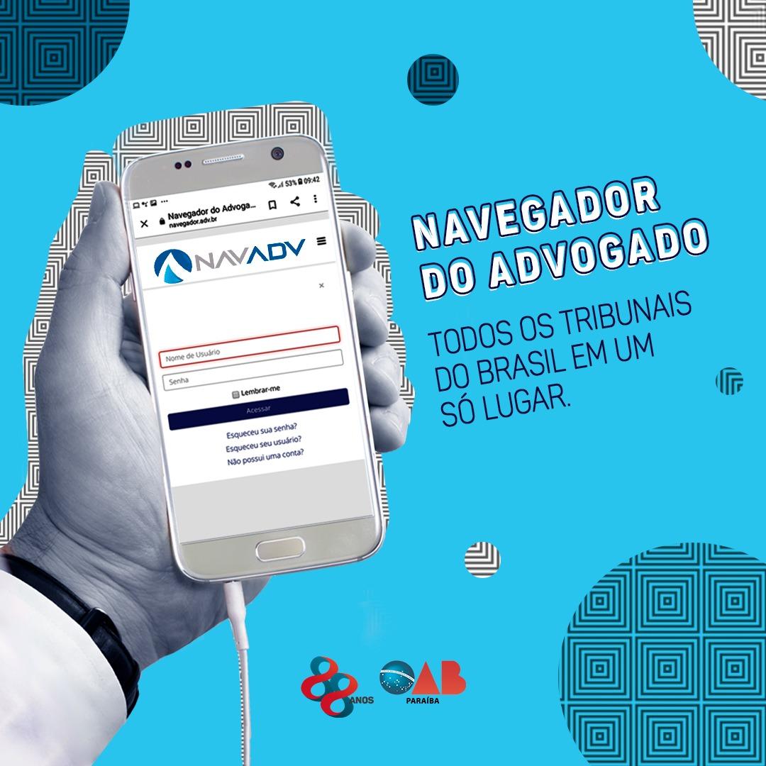 OAB-PB firma parceria com navegador que facilita acesso do advogado a tribunais de todo Brasil