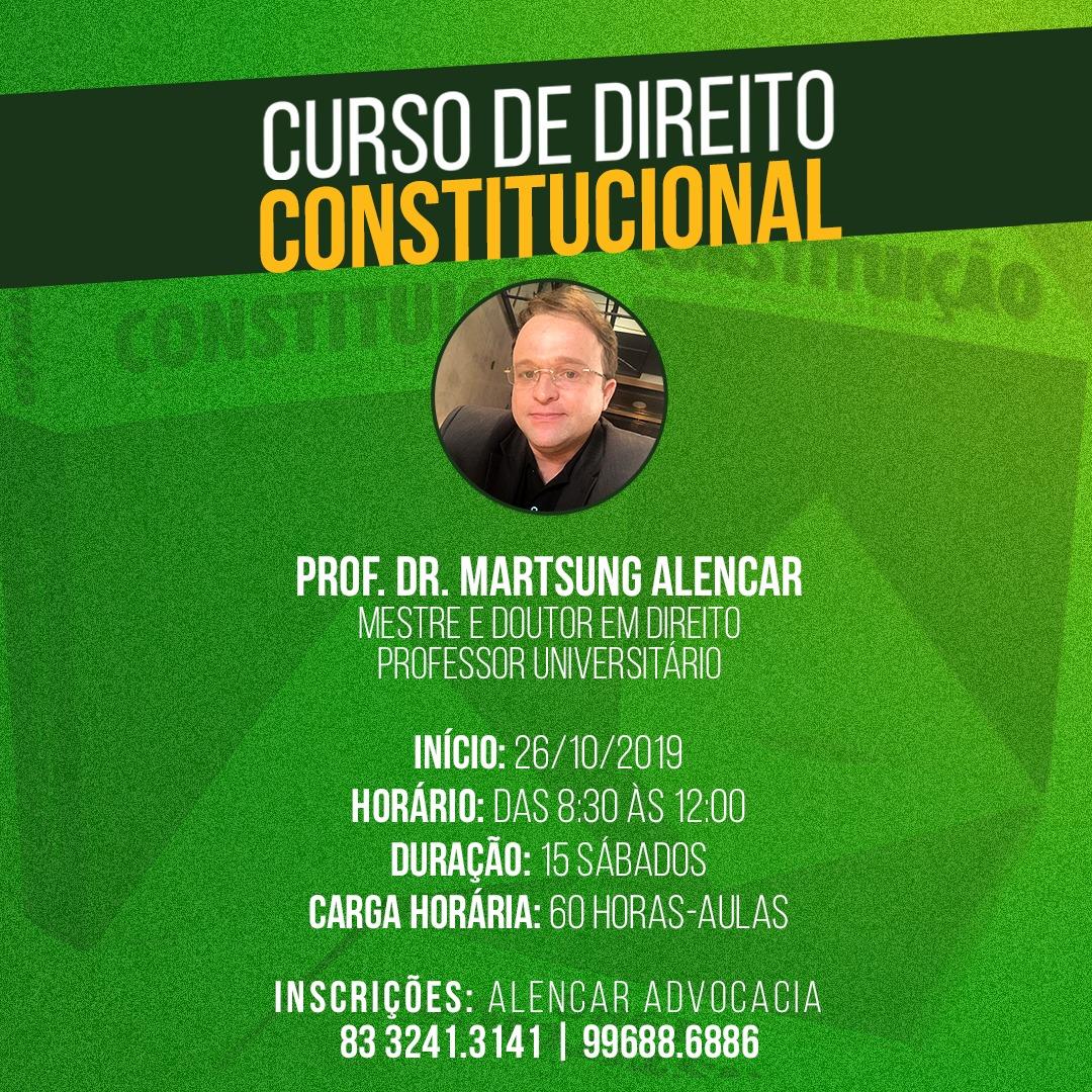Curso completo de Direito Constitucional se inicia neste sábado; participe