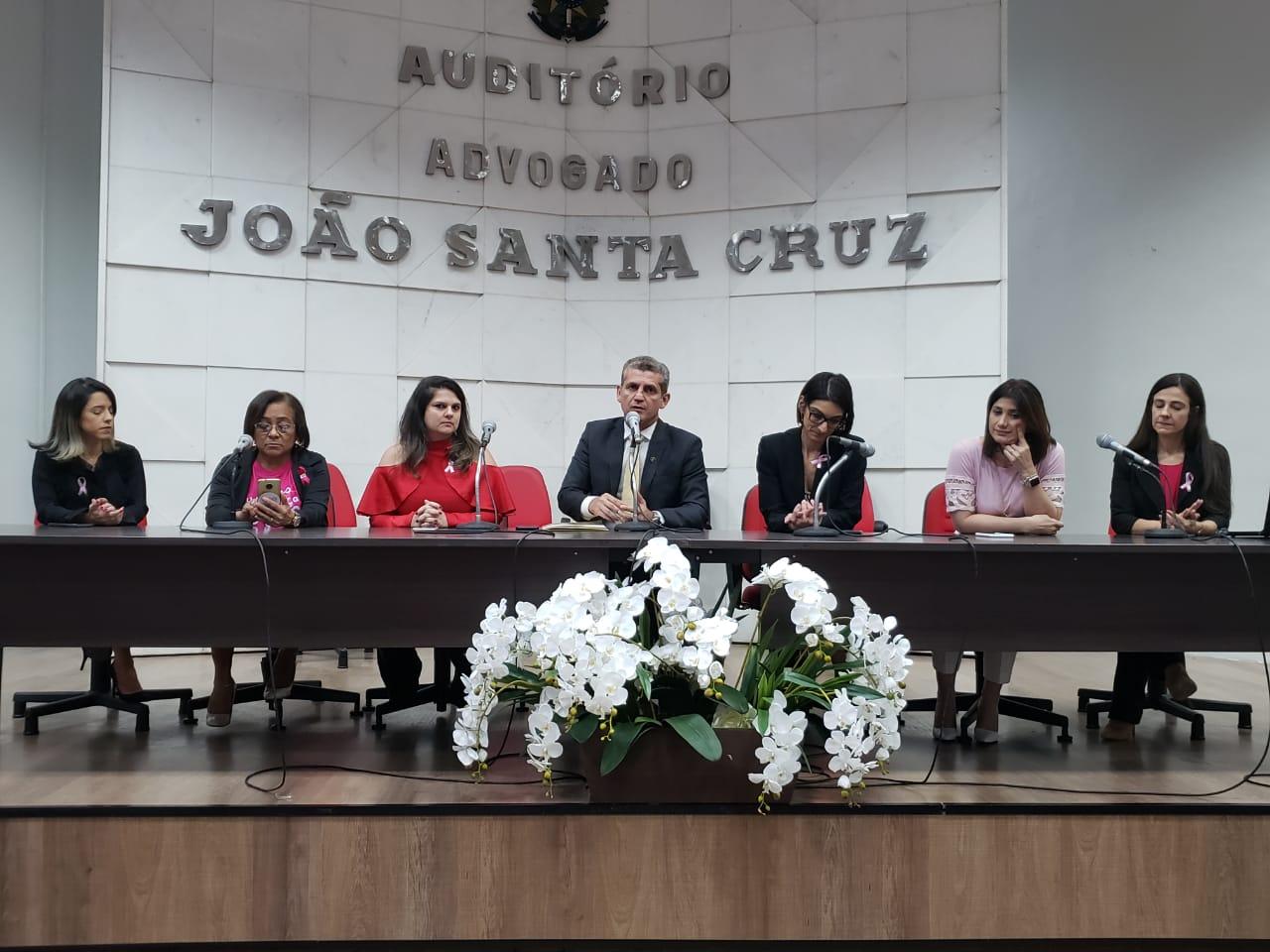 Comissões da OAB-PB e Rede Sororidade debatem câncer de mama em alusão ao Outubro Rosa