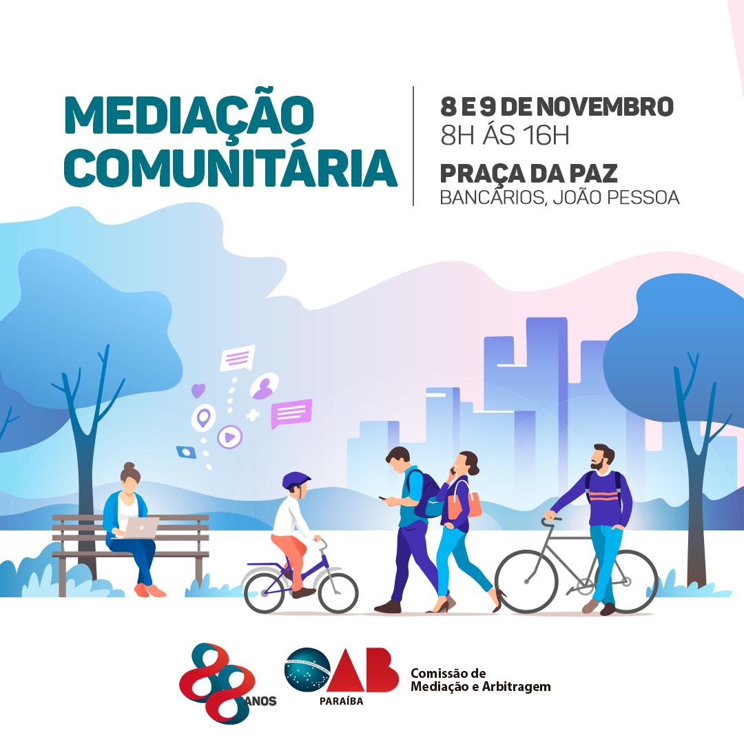 OAB-PB realizará segunda edição do projeto Mediação Comunitária na Praça da Paz
