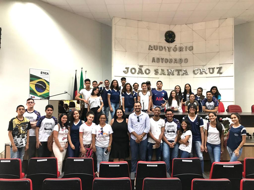 OAB-PB recebe visita dos alunos da Escola Estadual Professor Antonio Gomes