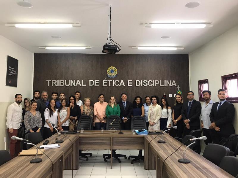 Estudantes de Direito do Iesp visitam o Tribunal de Ética e Disciplina da OAB-PB