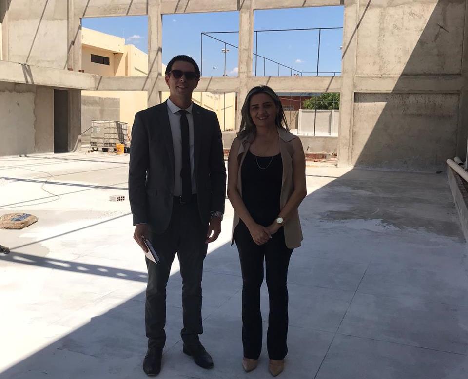 Secretário geral da OAB visita Sousa e inspeciona obras da Centro de Convivência e Recreação da Subseção