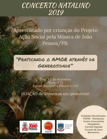 OAB-PB prestigia Concerto Natalino 2019 da AEMP no Fórum Cível da Capital